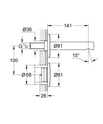 Смеситель для встраиваемой системы Grohe Essence E 36252000 серебристый