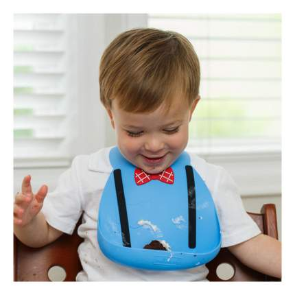 Нагрудник Make my day Baby Bib Scholar Blue