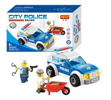 Конструктор пластиковый XIPOO Городская полиция. Машина детектива