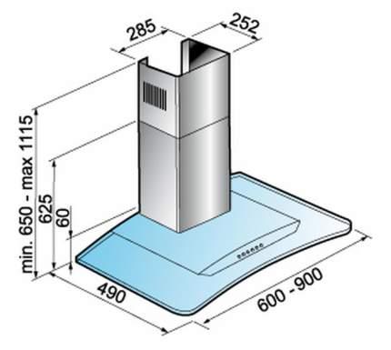 Вытяжка купольная Korting KHC 6954 X Silver
