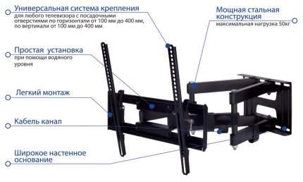Кронштейн для телевизора KROMAX PIXIS-L Черный