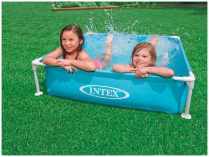Бассейн каркасный INTEX Mini Frame голубой 122х122х30 см (57173)