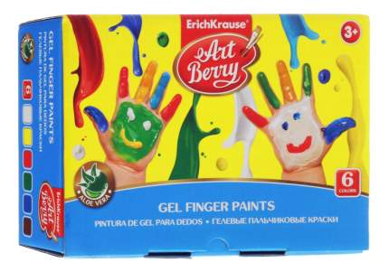 Пальчиковые краски ErichKrause ArtBerry с экстрактом Алоэ Вера 6 цветов