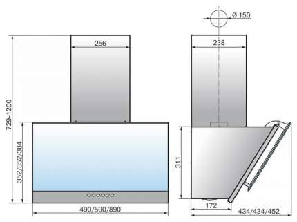 Вытяжка наклонная ELIKOR 60П-700-Э4Д White