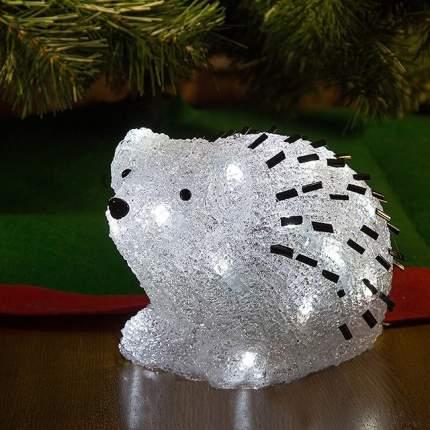 Kaemingk Ежик светящийся 15 см, уличный, акрил, 24 холодных белых лампы 492107