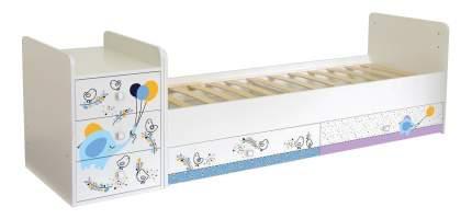 Кровать-трансформер Simple 1100 Слоник на шаре белый Polini