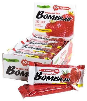 Протеиновый батончик Bombbar Protein Bar 60 г клубника