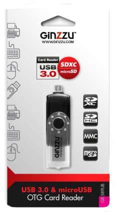 Картридер Ginzzu GR-589UB USB 3.0 Черный