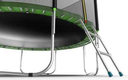Батут Evo Fitness Jump External с сеткой и лестницей 366 см, green
