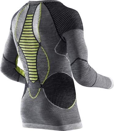 Лонгслив X-Bionic Apani Merino Fastflow Shirt 2019 мужской темно-серый/зеленый, S/M