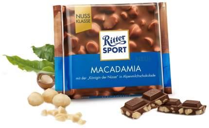 Шоколад Ritter Sport макадамия молочный с обжаренным орехом макадамии 100 г