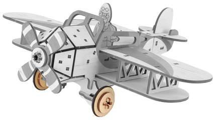 Конструктор деревянный Woody Крутой Вираж - Самолет, 55 деталей