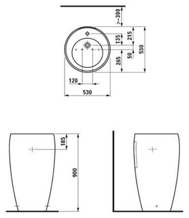 Раковина с пьедесталом LAUFEN Alessi 1197,2,400,104,1