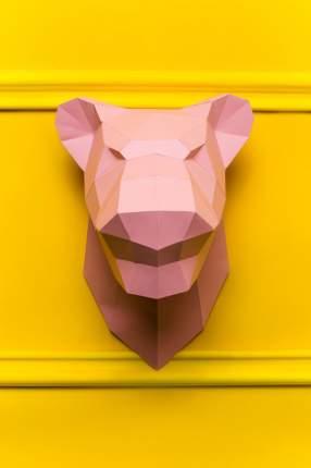Набор для сборки полигональных фигур: Пантера розовая
