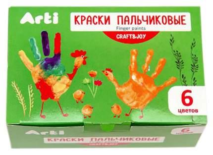 Пальчиковые краски Craft & Joy, 6 цветов Arti