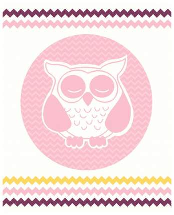 "Плед Karna ""Bird"", 90x120 см (грязно-розовый)"