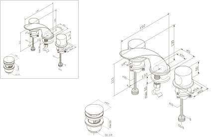 Смеситель для раковины AM.PM F3008000 хром