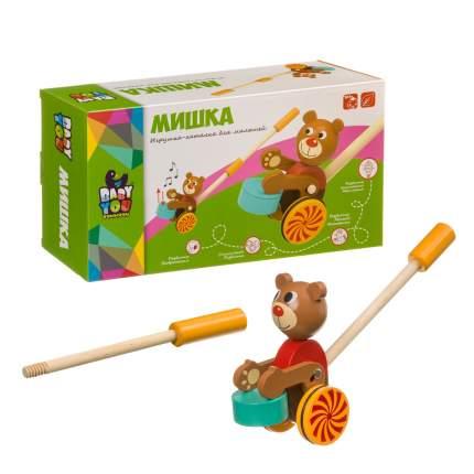 """Игрушка деревянная Bondibon """"Каталка. Мишка"""""""