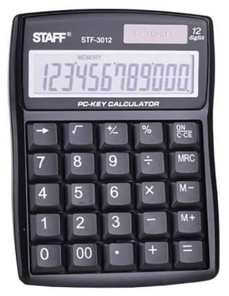 Калькулятор Staff STF-3012, 12 разрядов, двойное питание, компьютерные клавиши, 141х107мм