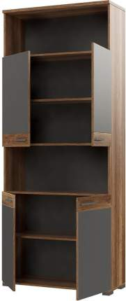 Платяной шкаф Hoff 80325374 90х36,5х215,8, серый/дуб каньон