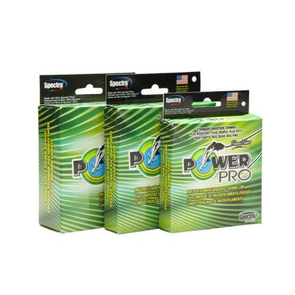 Леска плетеная PowerPro 0,06 мм, 92 м, 3 кг желтая