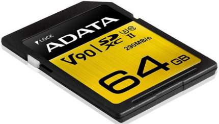 Карта памяти A-DATA SDXC Premier ONE 64GB