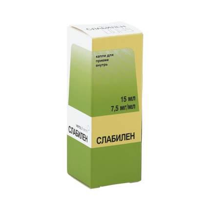 Слабилен капли 7.5 мг/мл 15 мл