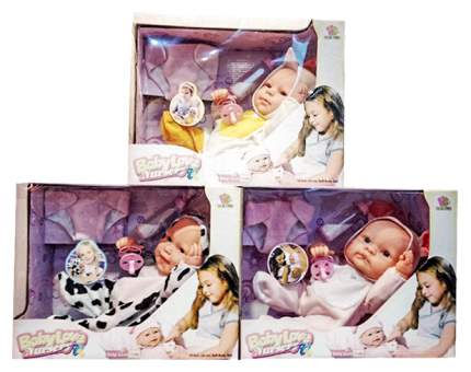Пупс Junfa toys в наборе с аксессуарами, 3 вида в ассортименте, 33,5x27x16,5 см