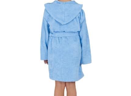 """Детский махровый халат с капюшоном, голубой, р. 38 """"ЭГО"""""""
