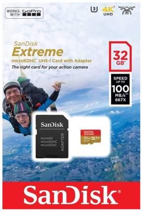 Карта памяти SanDisk SDHC Extreme U3 32Gb