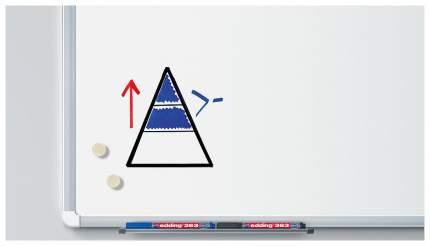Набор edding маркеров для белых досок, клиновидный наконечник, 1-5 мм, 4 цвета в наборе