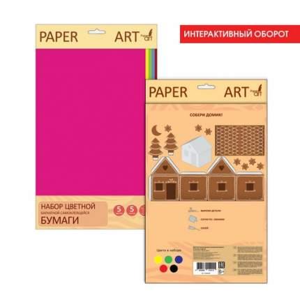 Бумага цветная бархатная самоклеящаяся (А4, 5л, 5цв, 190 г/м), ББС55286