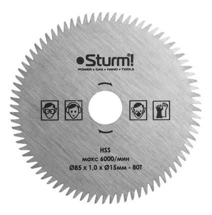 Диск по прочим материалам для дисковых пил Sturm! CS5060MS-85-15-1.0-80T