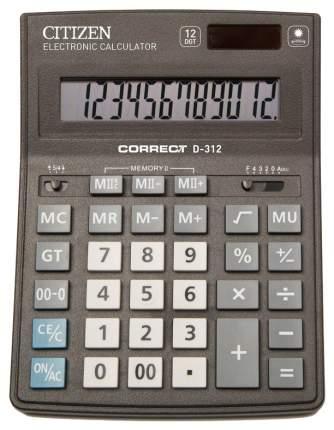 Калькулятор CiTiZEN Correct D-312 Черный