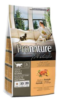 Сухой корм для кошек Pronature Holistic Grain Free, беззерновой, утка и апельсин, 0,34кг