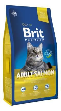 Сухой корм для кошек Brit Premium Cat Adult Salmon, лосось, 8кг