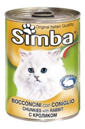 Консервы для кошек Simba, кролик, 24шт по 400г