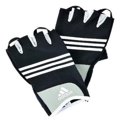 Перчатки для фитнеса и тяжелой атлетики ADGB-12232 черно-белые/голубые S/M