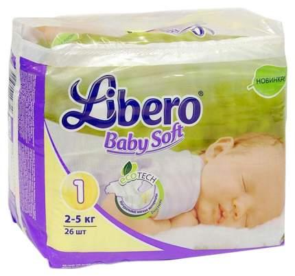 Подгузники для новорожденных Libero EcoTech Baby Soft Newborn (2-5 кг), 26 шт.