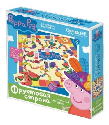 Семейная настольная игра Origami Peppa Pig Фруктовая страна