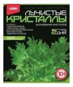 Набор для выращивания кристаллов Lori Лучистые кристаллы зеленый