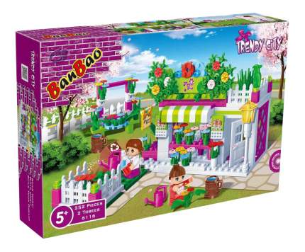 Конструктор пластиковый BanBao Цветочный магазин 252 деталей