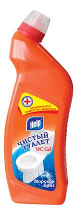 Универсальное чистящее средство Help чистый туалет морской бриз пуш-пул 750 мл
