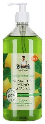 Жидкое мыло Рецепты бабушки Агафьи Мятно-лимонное 1 л
