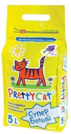 Комкующийся наполнитель для кошек PrettyCat Супер белый бентонитовый, лаванда, 4.2 кг, 5 л