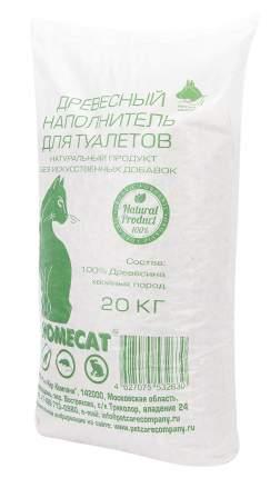 Наполнитель HOMECAT древесный 60 л 20 кг