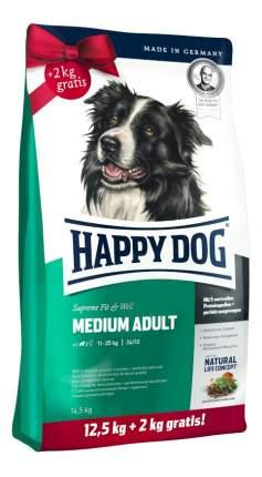Сухой корм для собак Happy Dog Supreme Fit & Well Medium, для средних пород, птица, 14,5кг