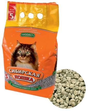 Наполнитель Сибирская кошка Бюджет впитывающий 5 л без запаха