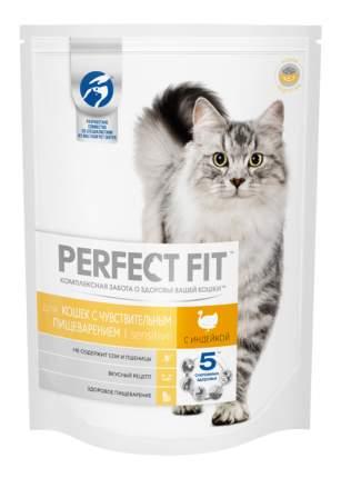 Сухой корм для кошек Perfect Fit Sensitive, индейка, 10шт по 650г