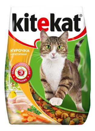 Сухой корм для кошек Kitekat, аппетитная курочка, 18шт по 350г